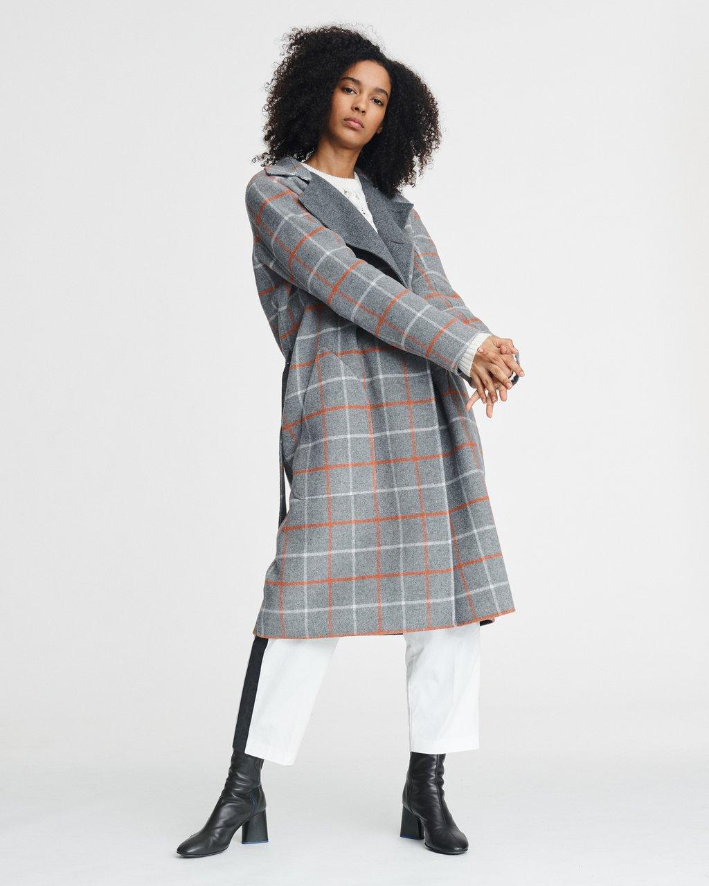 RACH REVERSIBLE PLAID COAT