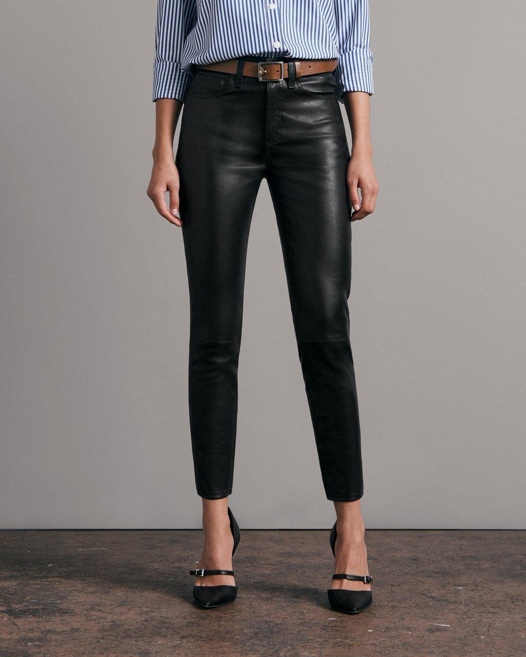 Nina High-Rise Skinny Leather Pant