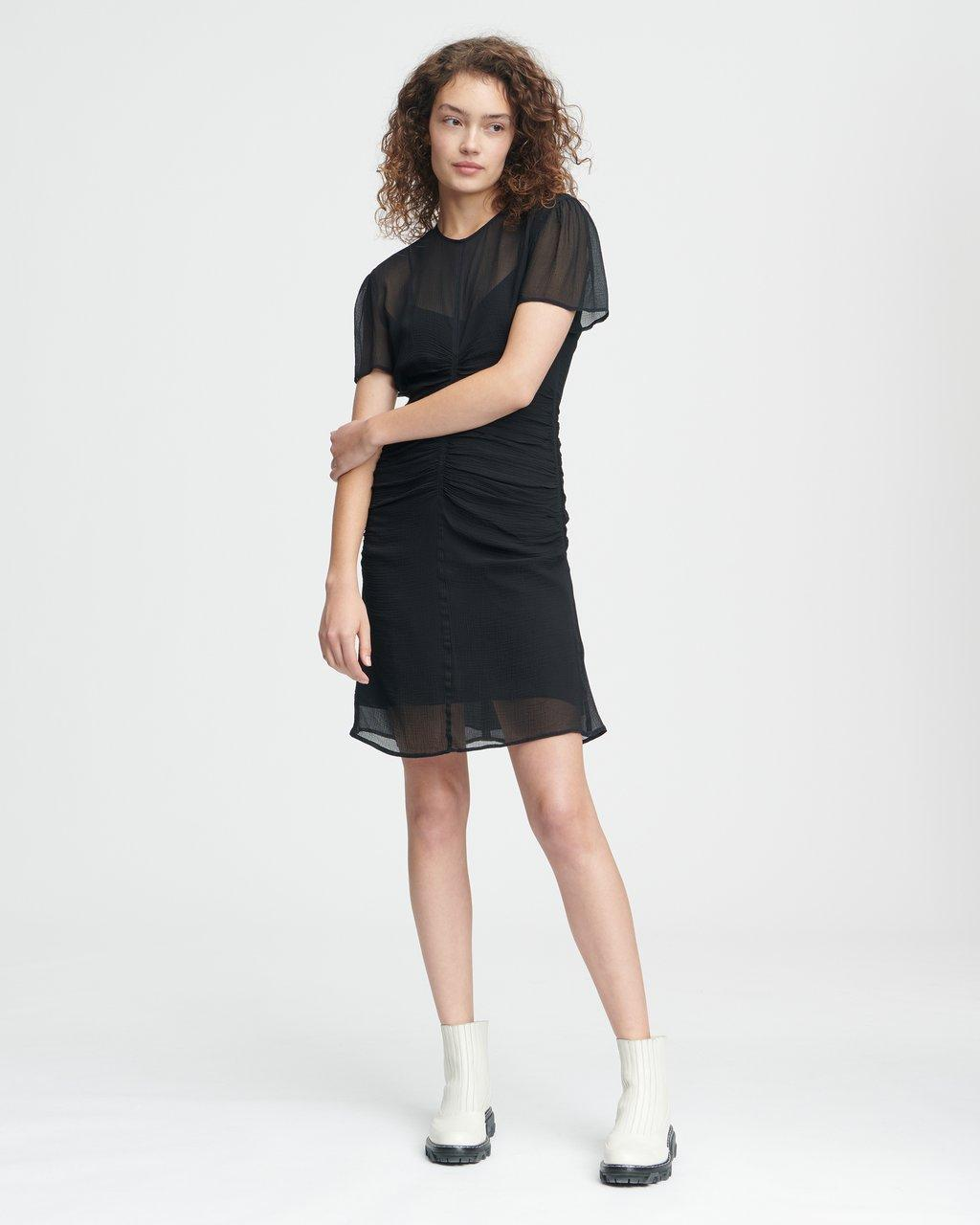 MARIS SHORT SLEEVE MINI DRESS