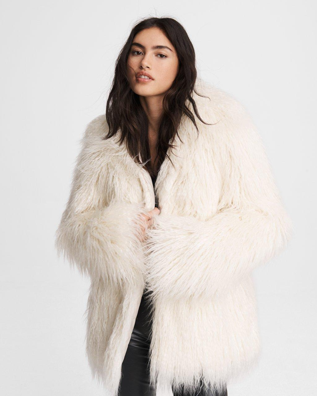 Adelyn Mongolian Faux Fur Coat