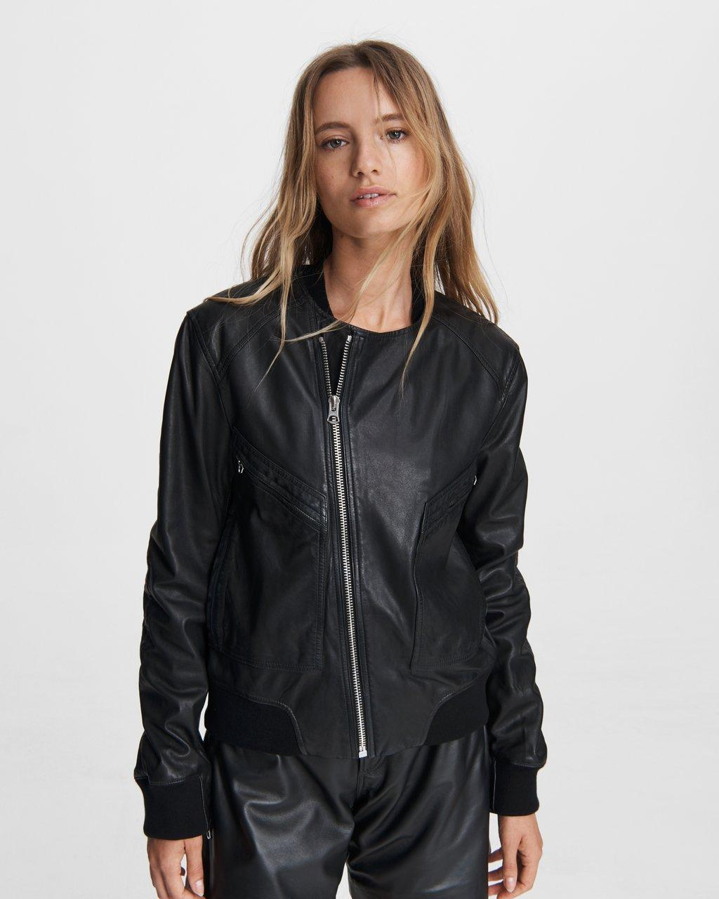 Leather Flight Bomber