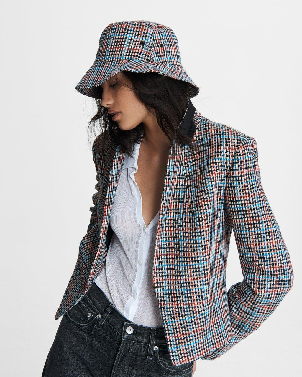 Elliot Plaid Wool Blazer