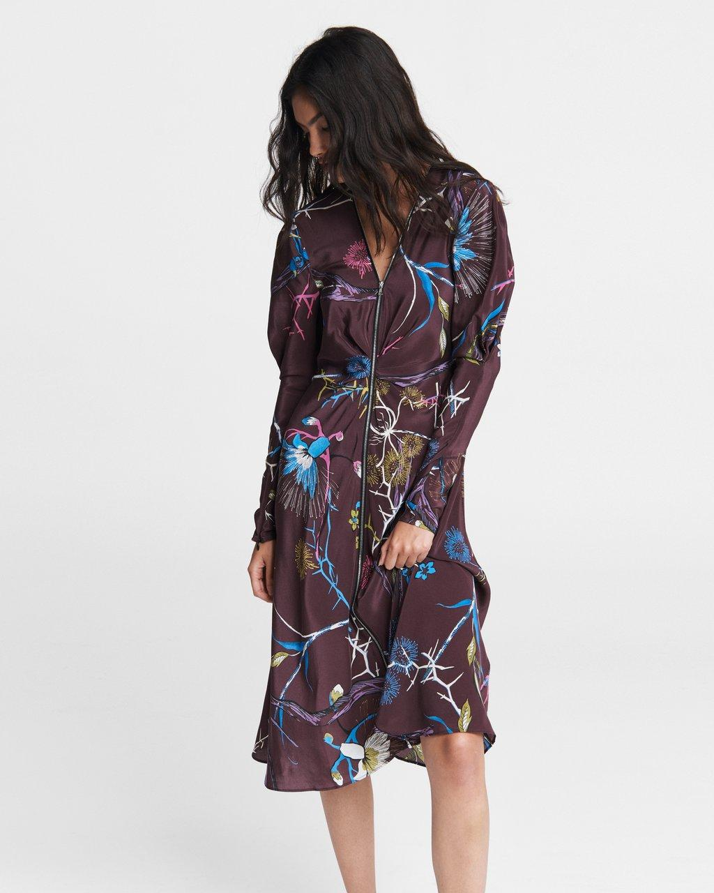 Rainier Printed Midi Dress