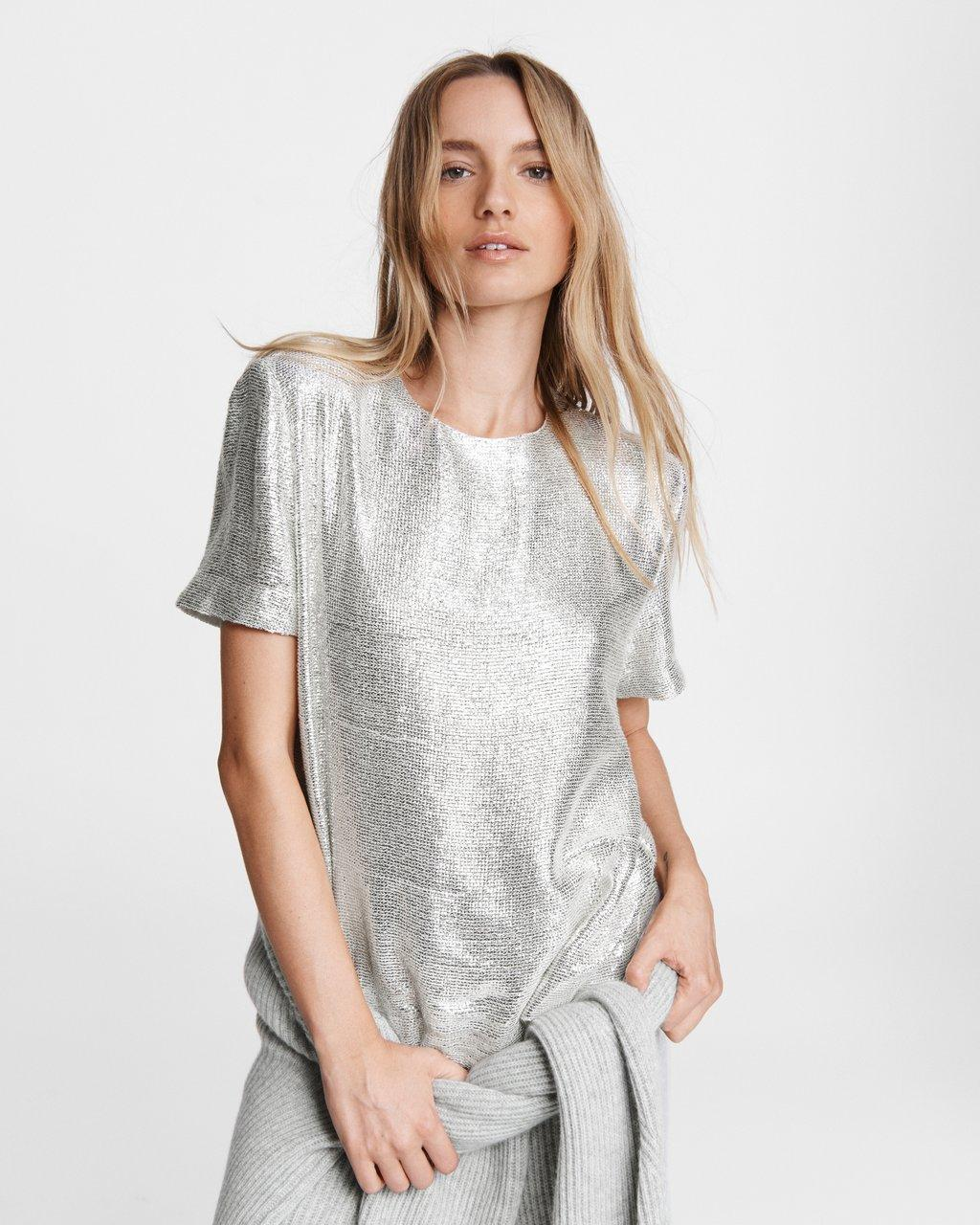 Gia Sequin Viscose Top