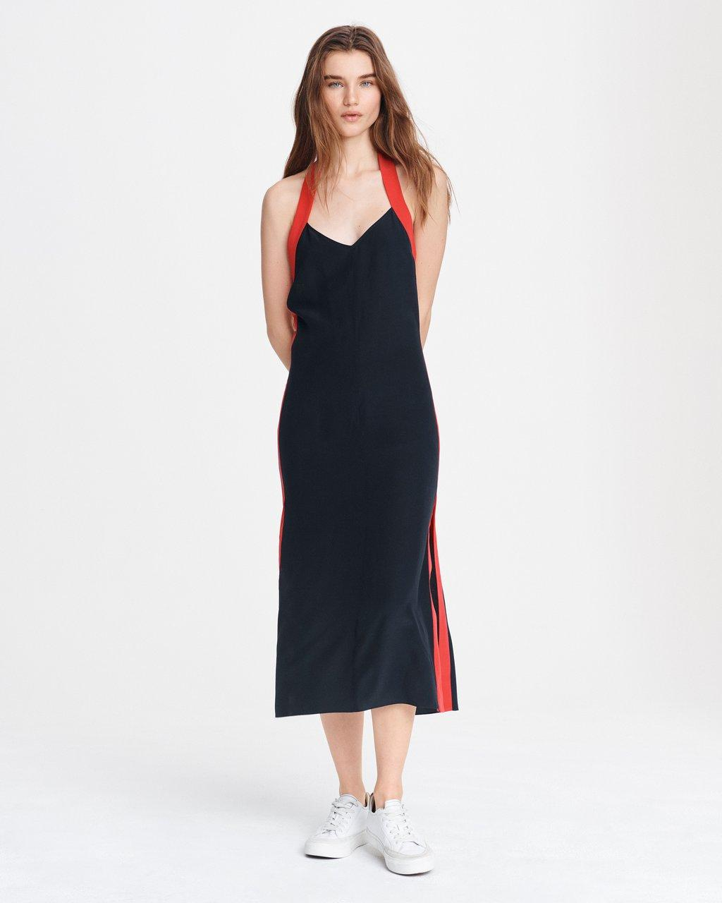 SCARLET HALTER DRESS