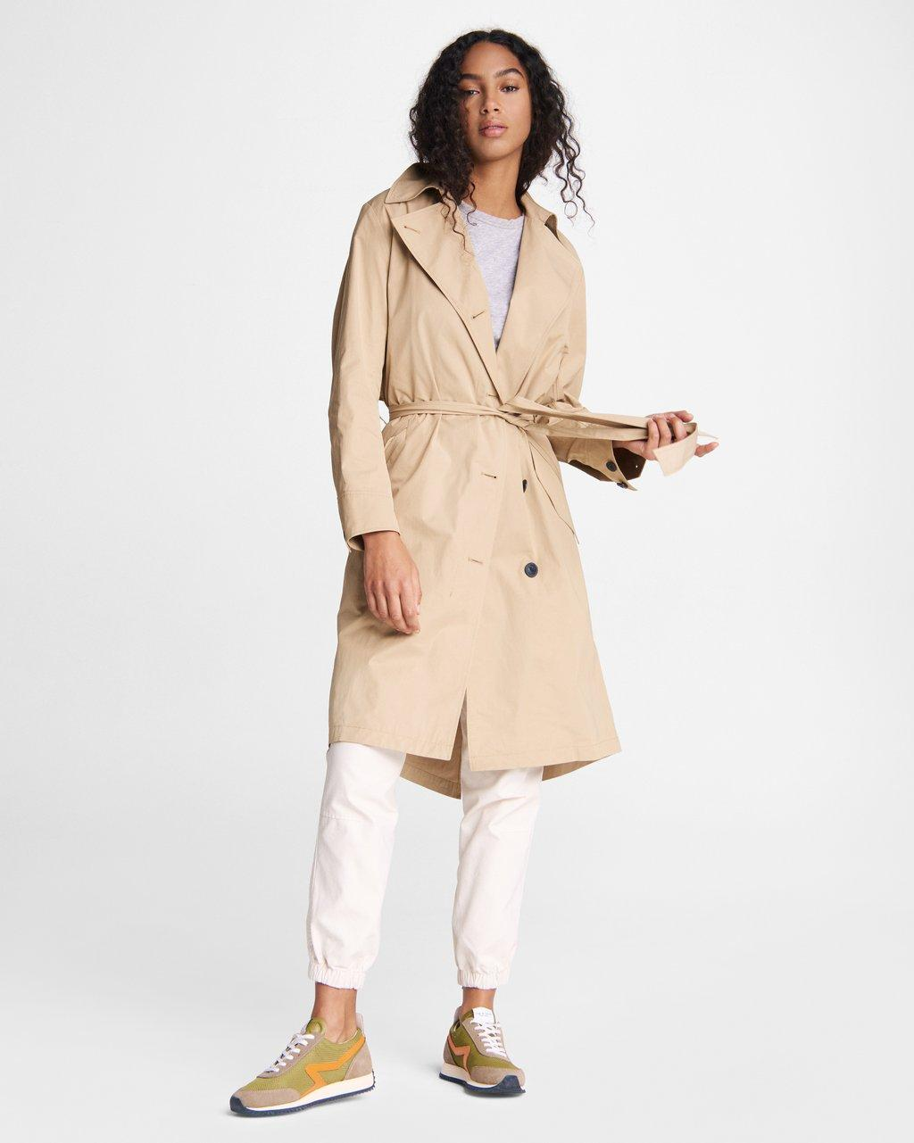 Classic Cotton Blend Trench