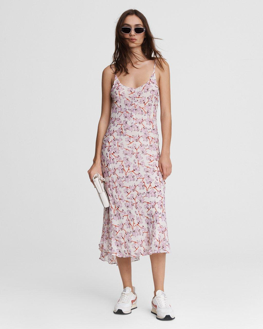 Eva Floral Midi Slip Dress
