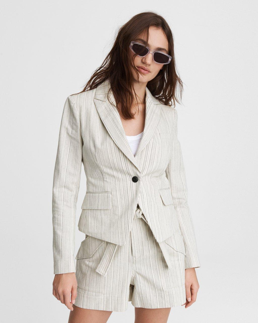 Fletcher Striped Linen Blazer