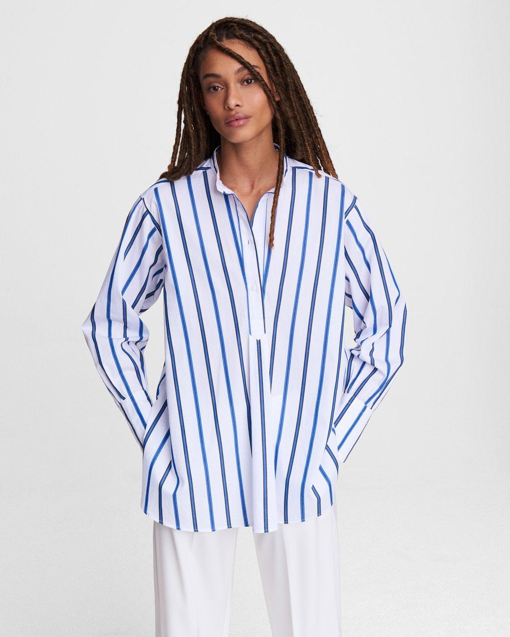 Allison Striped Cotton Tunic