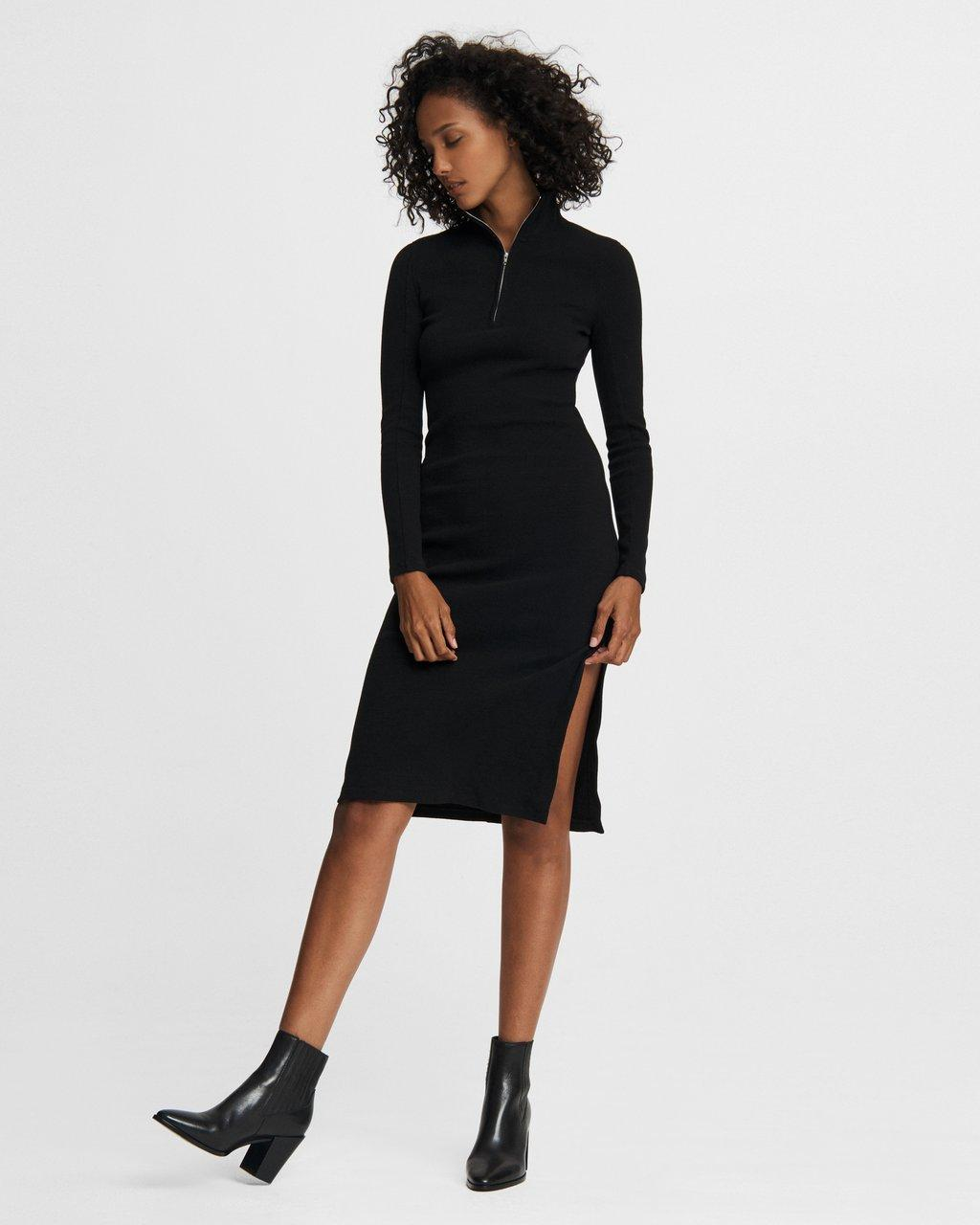 Laila Zip Midi Dress