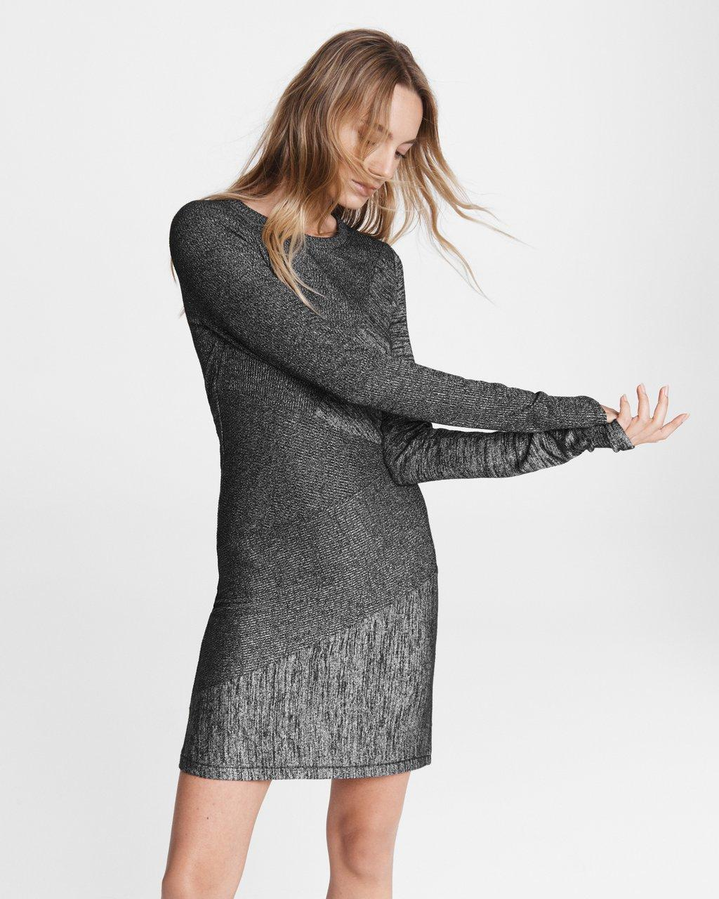 Knit Tonal Blocked Mini Dress
