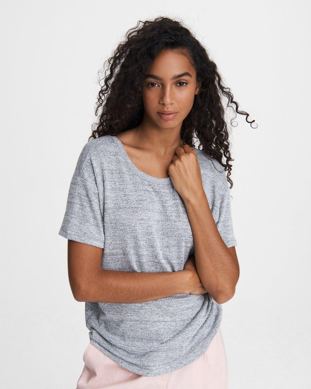 THE KNIT OPEN BACK JERSEY TEE