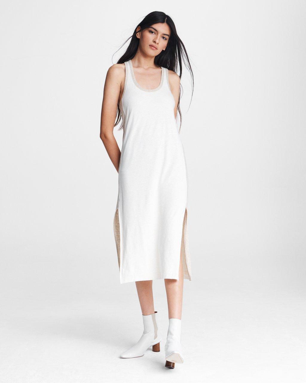 Summer Linen Tank Midi Dress