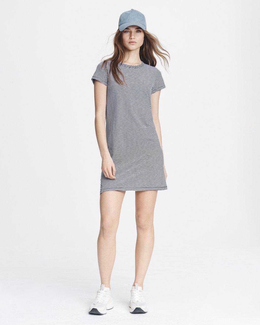 Short Sleeve Striped T-Shirt Dress | rag & bone