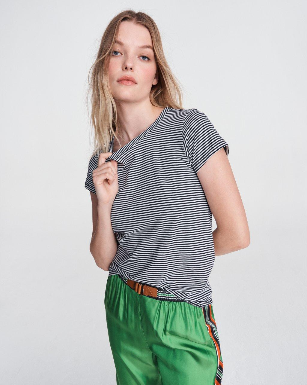 THE SLUB STRIPED TEE