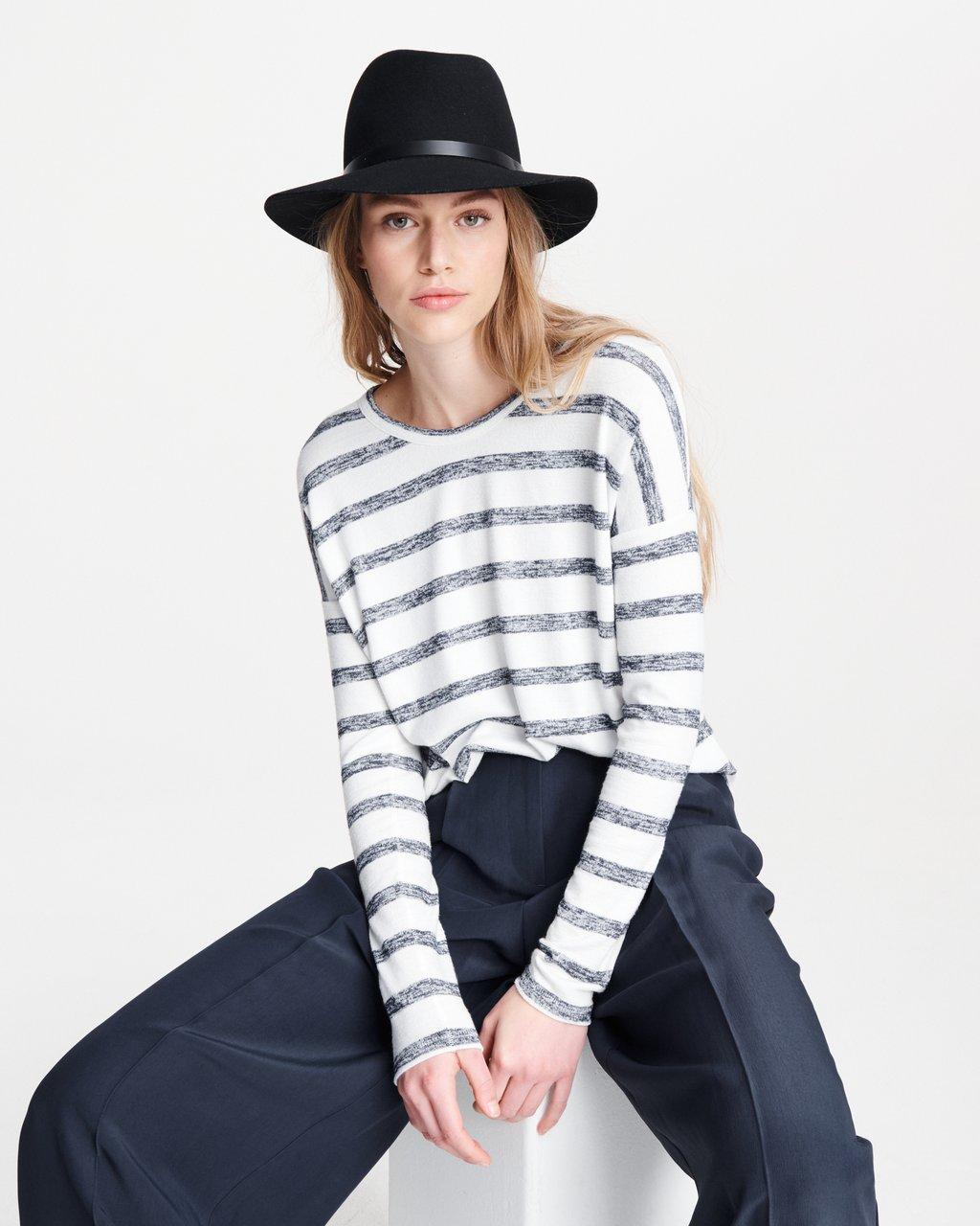THE KNIT STRIPED LONG SLEEVE
