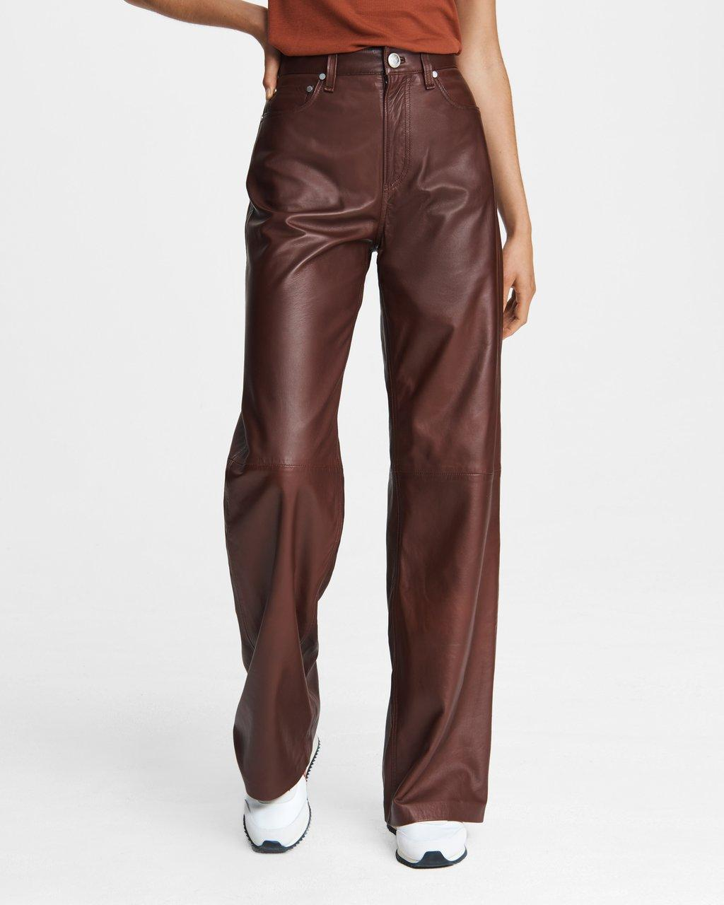 Super High-Rise Leather Pant