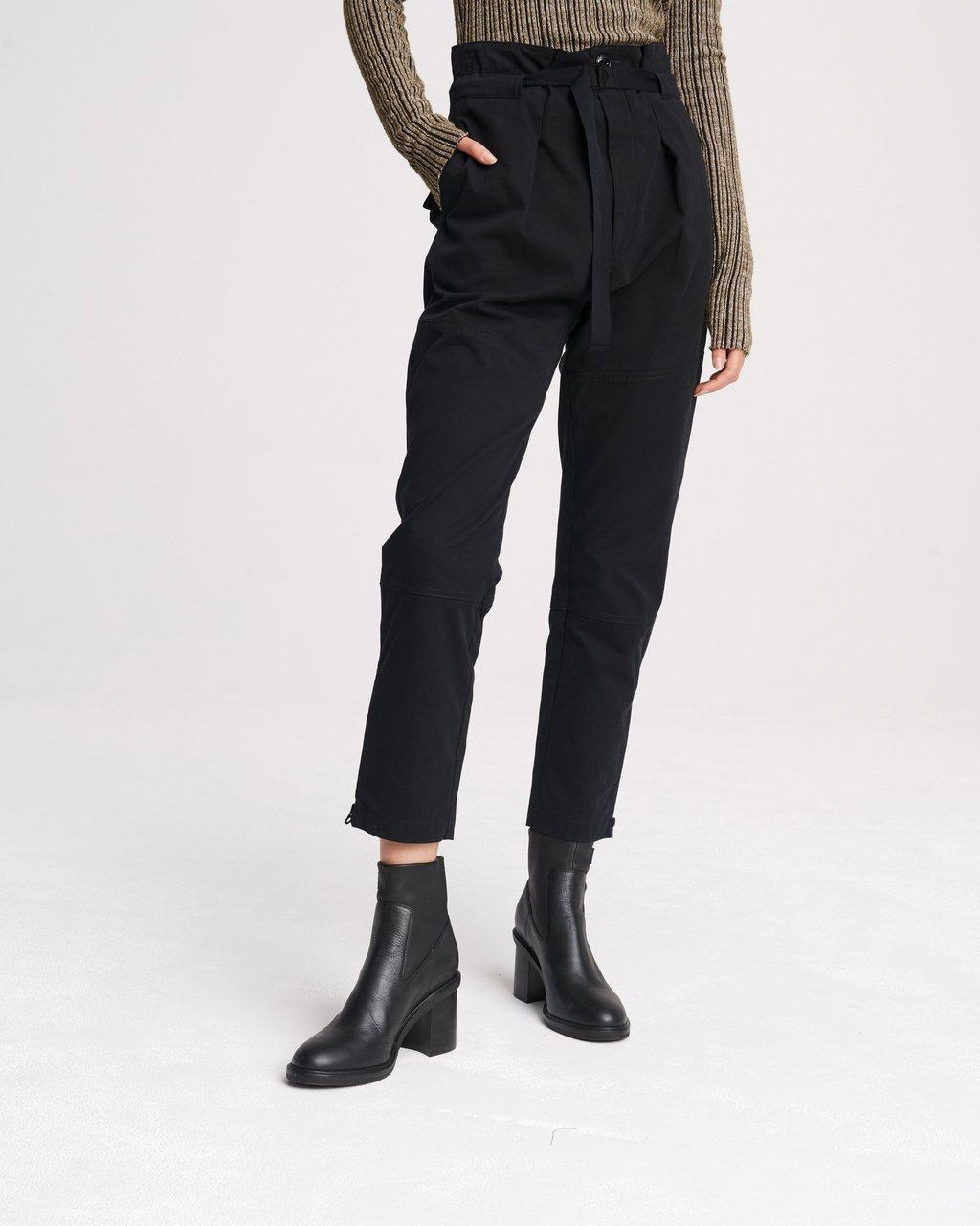 Belted Hunter Cupro Blend Pant
