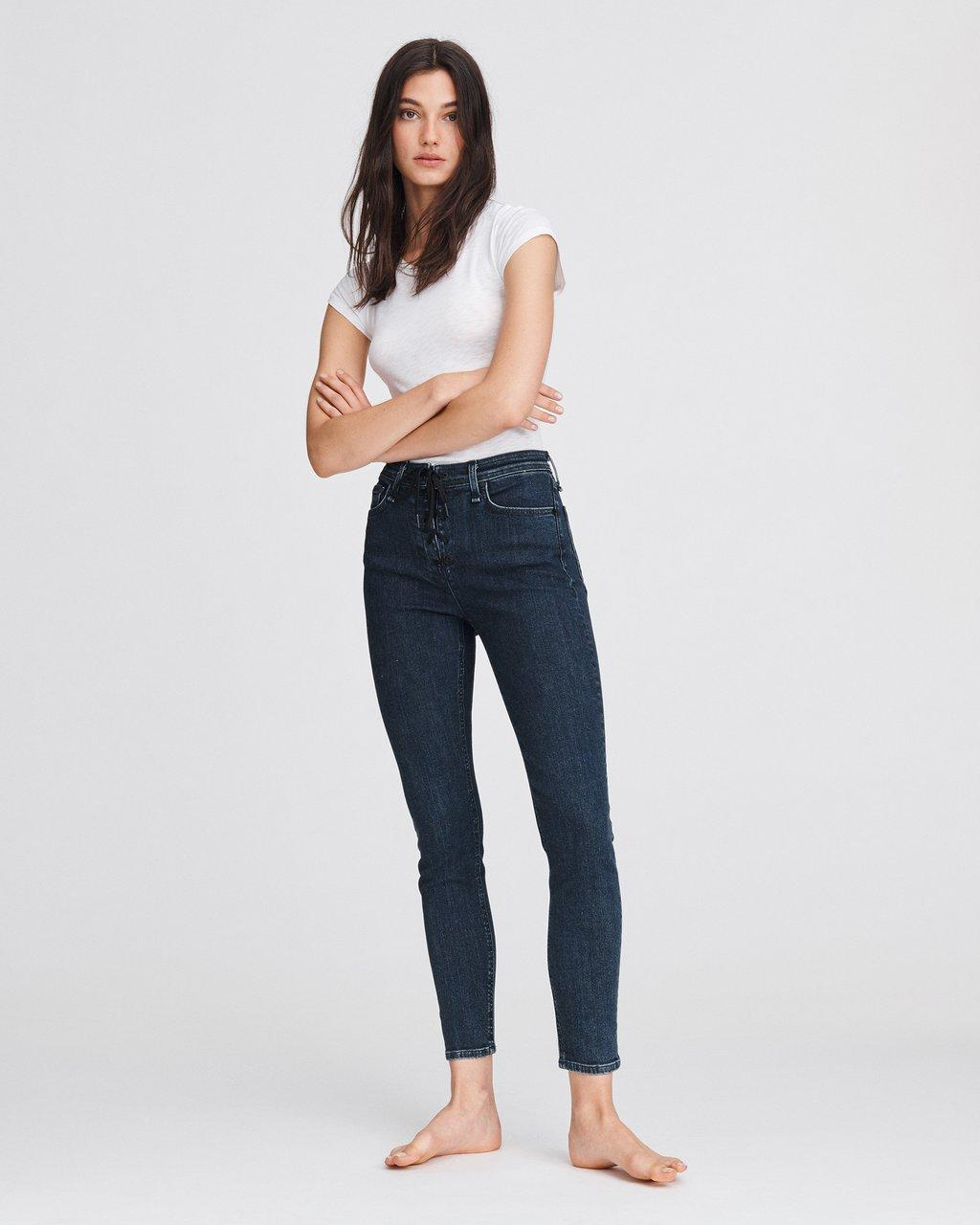 NINA HIGH-RISE ANKLE SKINNY WITH LACE UP