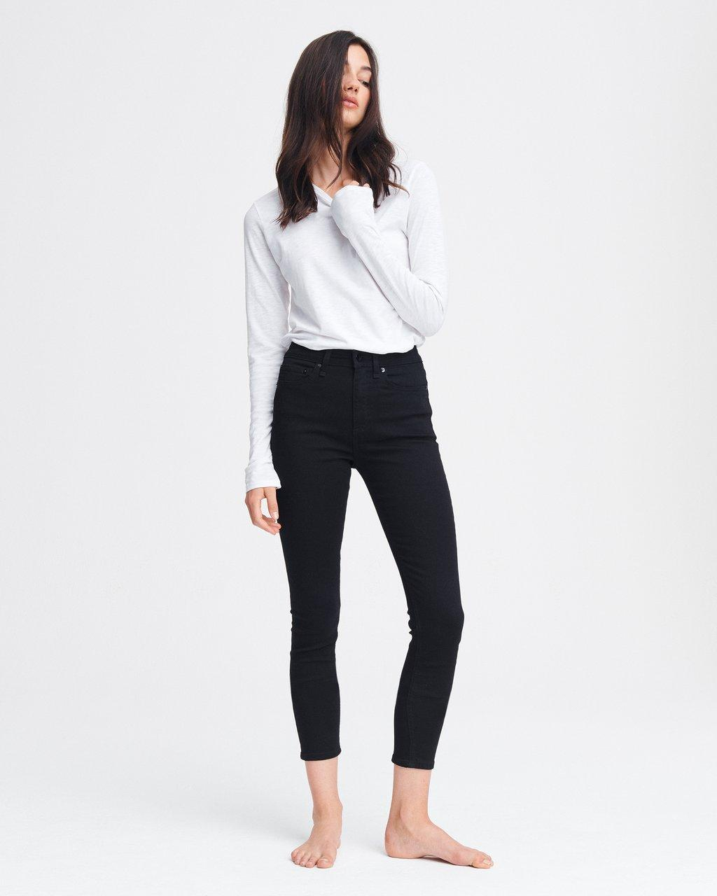 NINA HIGH-RISE ANKLE SKINNY - NO FADE