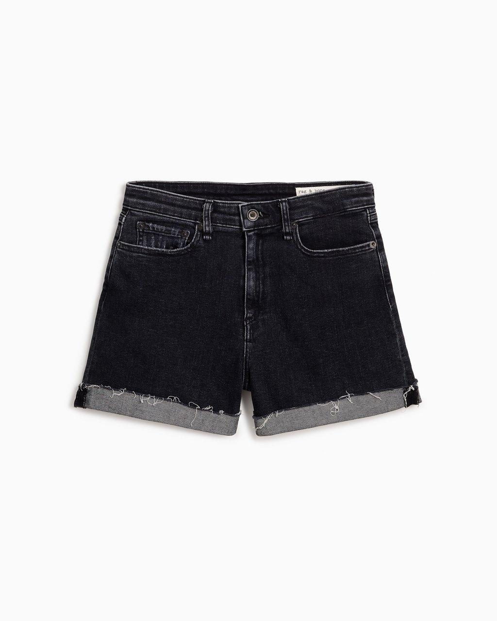 Nina High-Rise Short - Washed Black