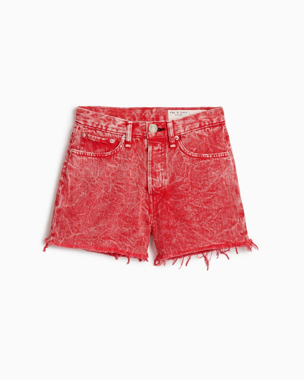 Maya High-Rise Short - Marbled Red