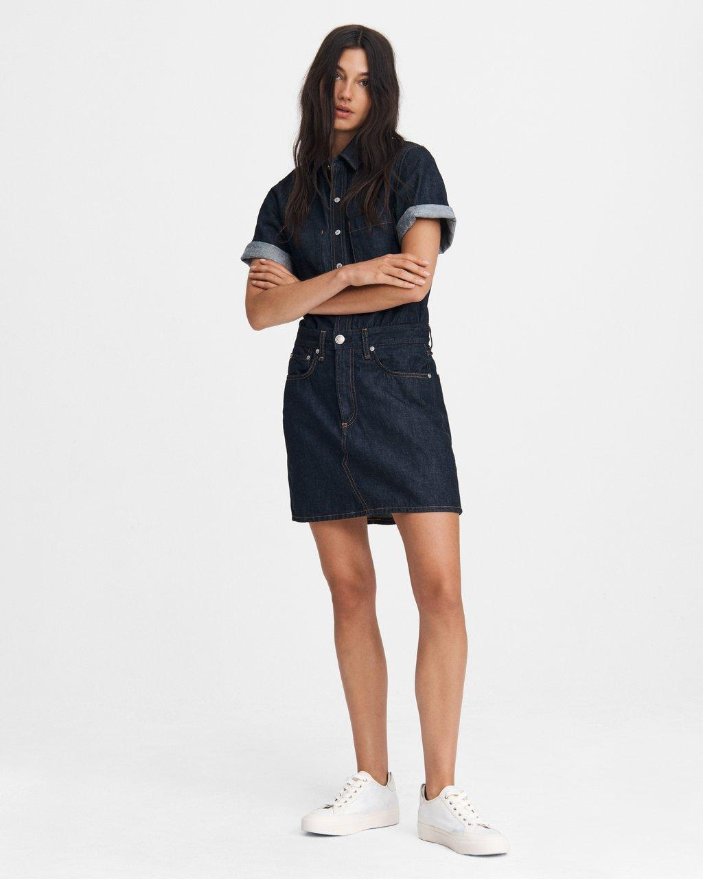 All In One Mini Shirt Dress