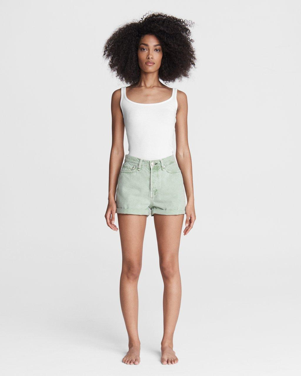 Maya High-Rise Shorty Short - Seafoam