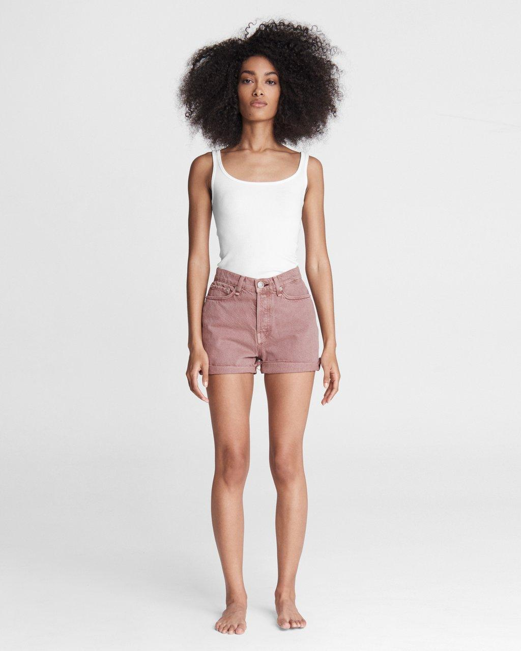 Maya High-Rise Shorty Short - Light Plum