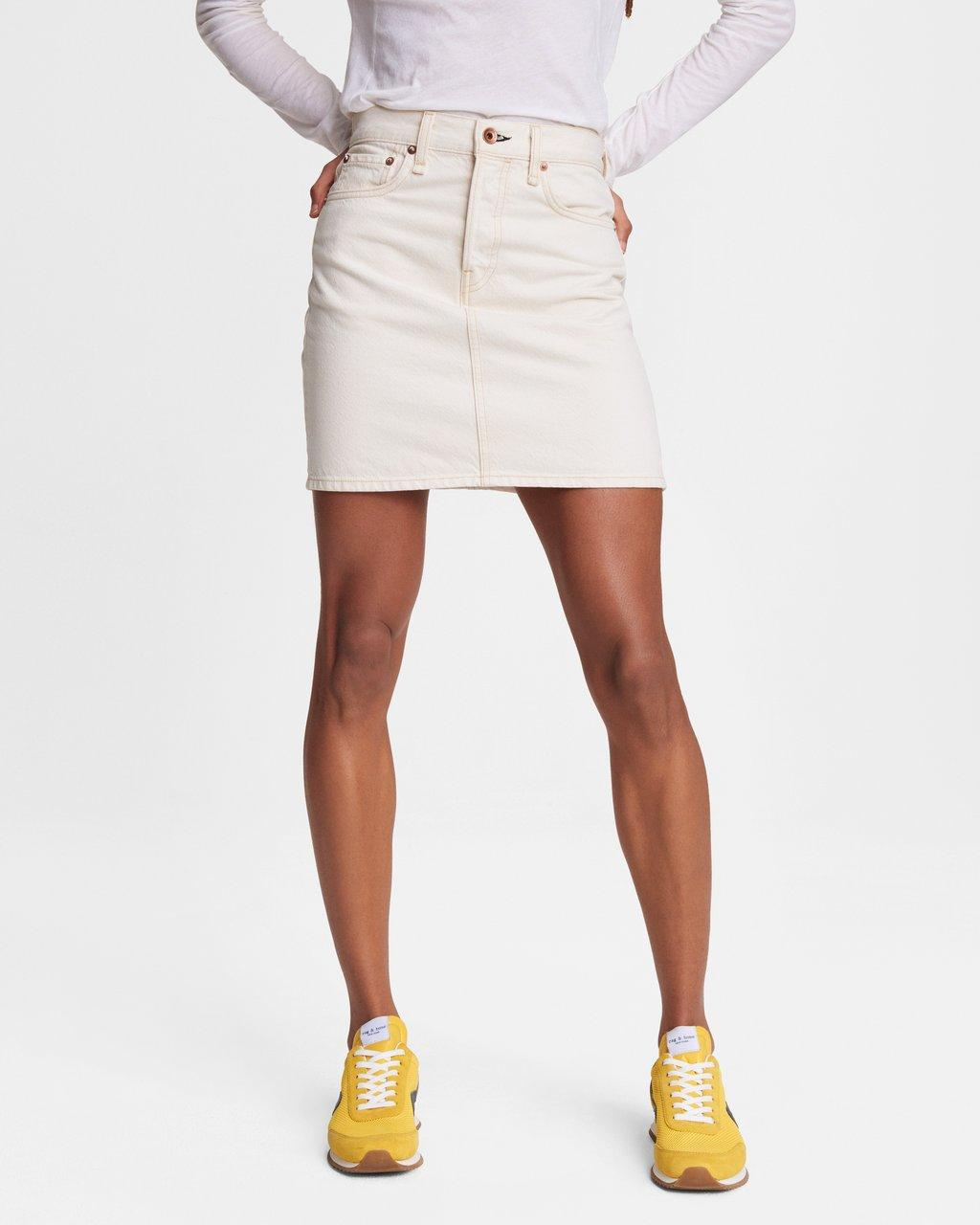 High-Rise Mini Skirt - Ecru