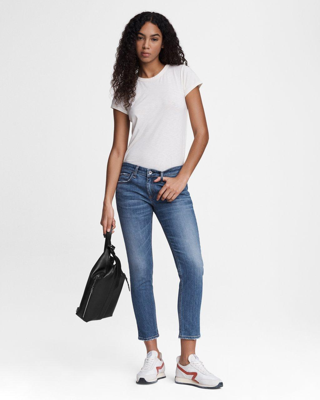 Dre Low-Rise Slim Boyfriend - Julienne