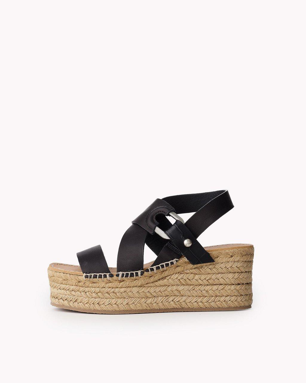 August Espadrille - Leather