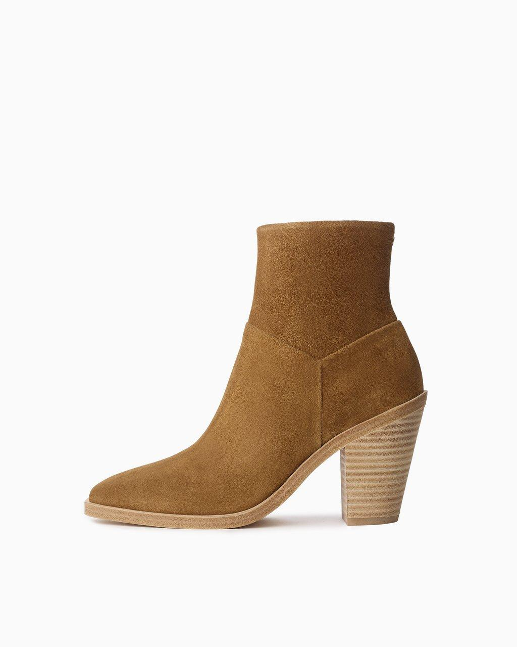 Axel Zip Up Boot - Suede