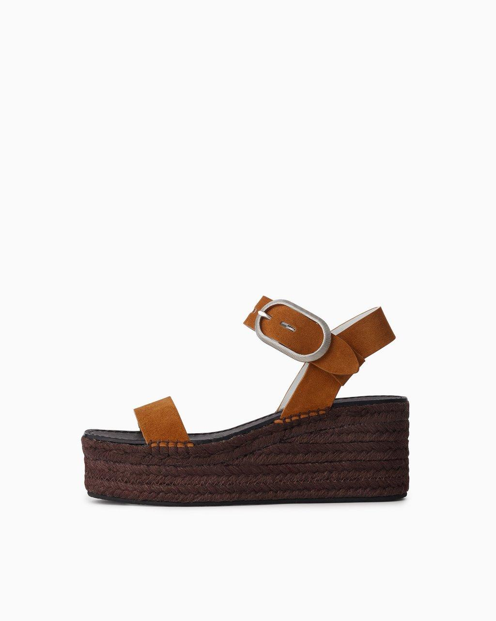 Ansley Buckle Espadrille - Suede