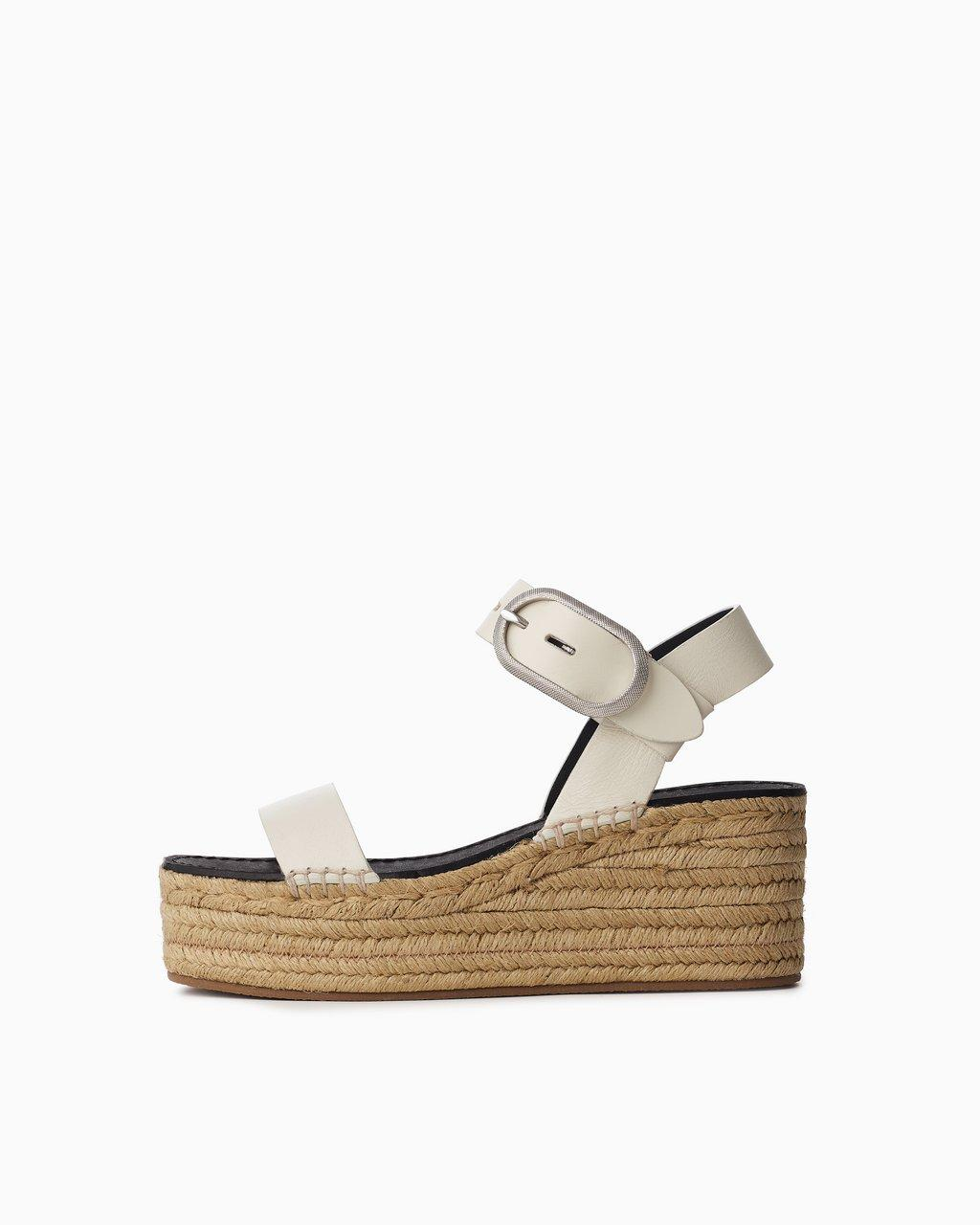 Ansley Buckle Espadrille - Leather