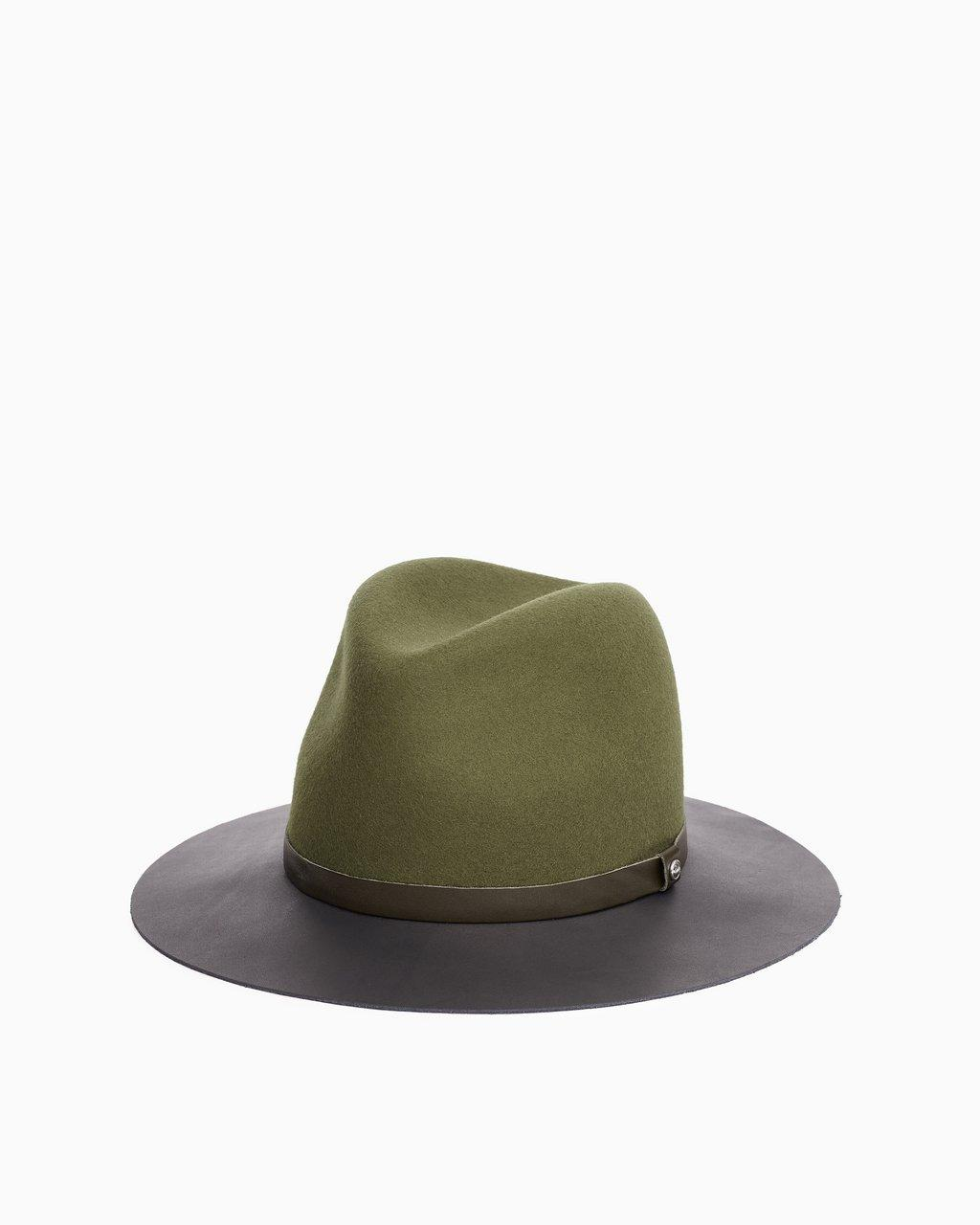 Floppy Leather Brim Fedora