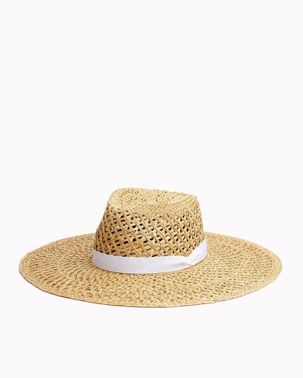 OPEN WEAVE WIDE BRIM HAT