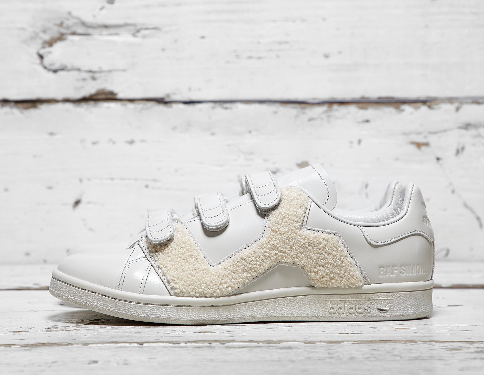Adidas x raf simons stan smith conforto distintivo footpatrol