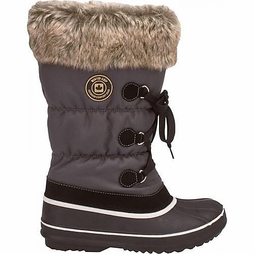 * LACE UP SNOWBOOTS GRIJS/BRUIN/ZWART DAMES