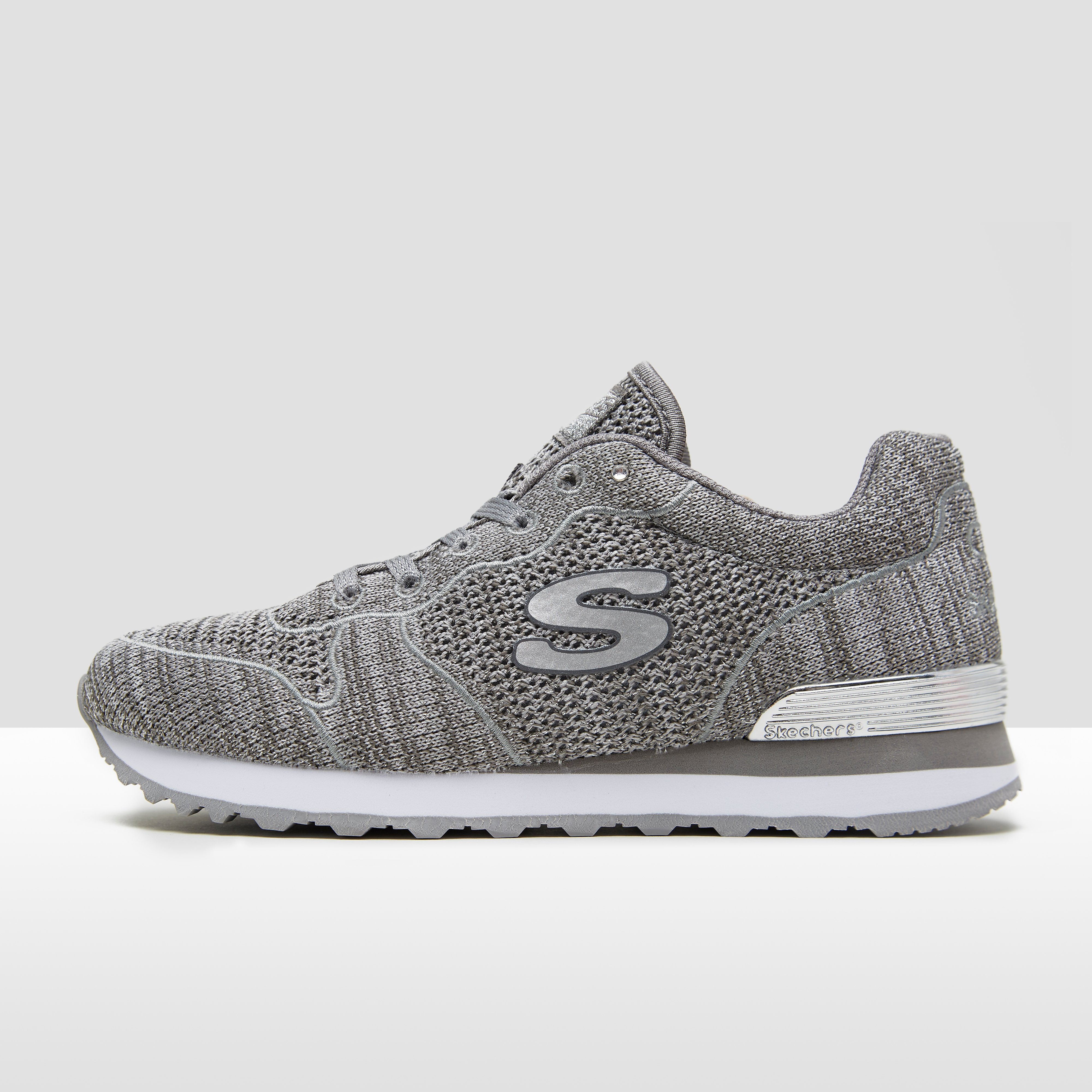 SKECHERS OG 85 LOW FLYERS ZILVER SNEAKERS