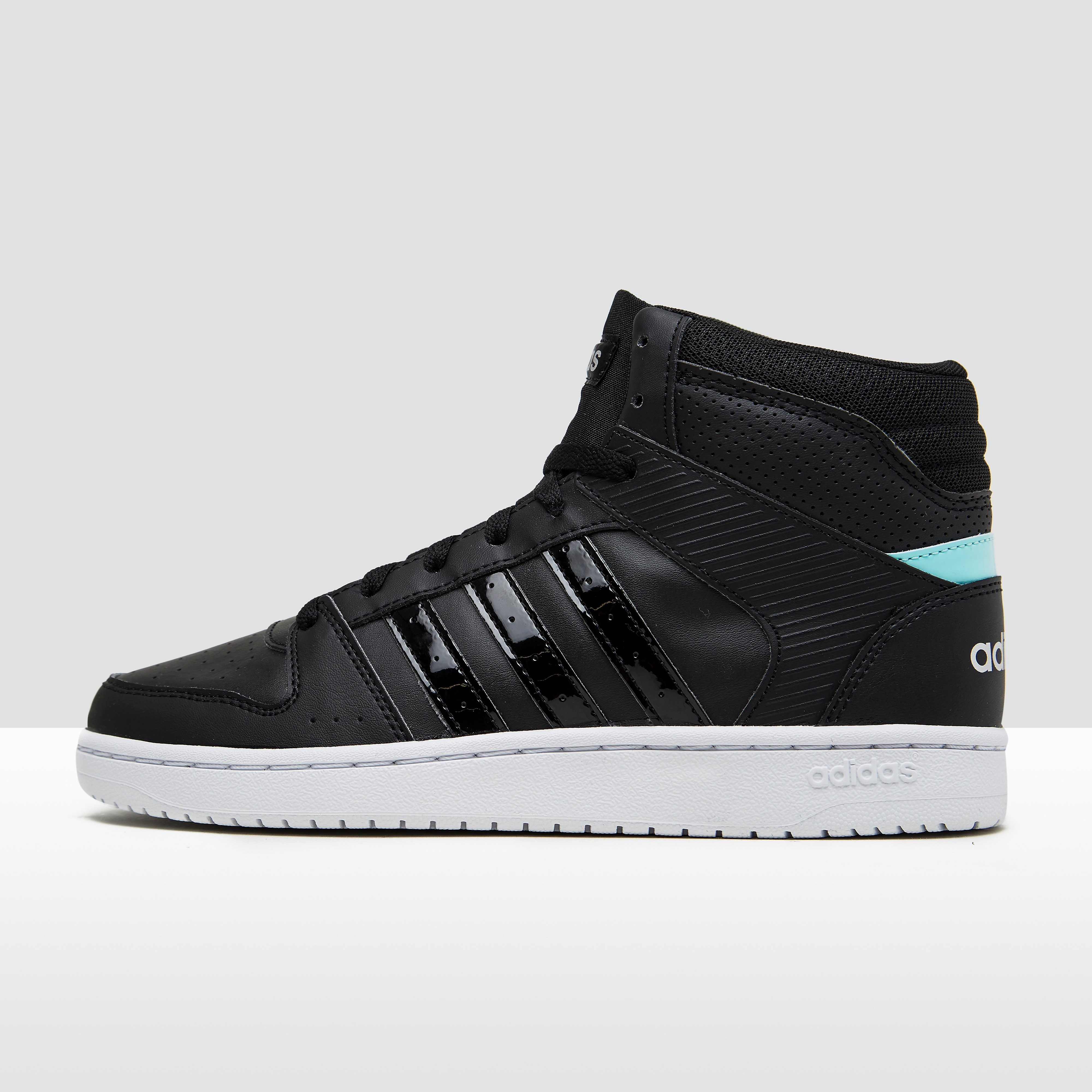 ADIDAS VS HOOPSTER MID SNEAKERS ZWART DAMES
