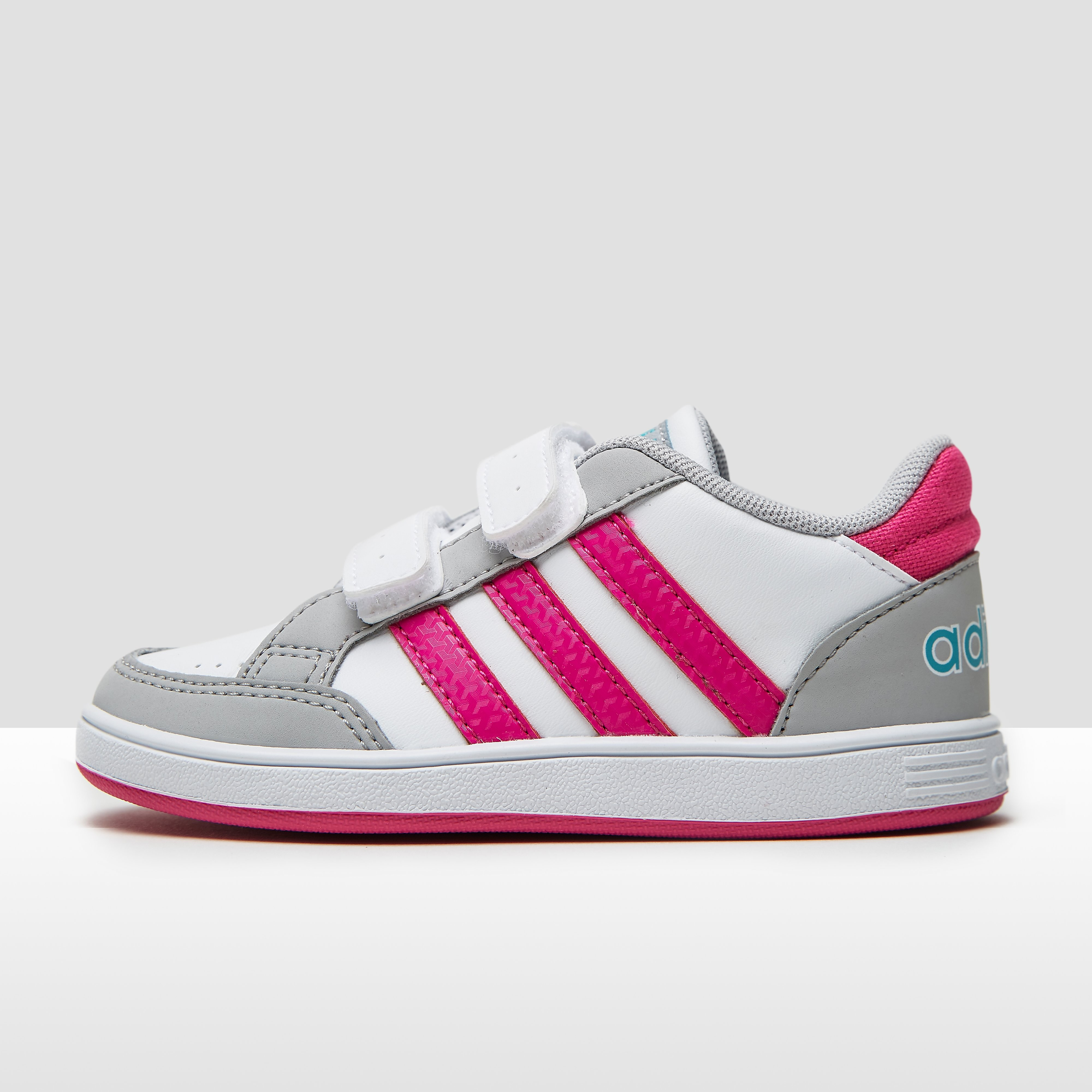 ADIDAS HOOPS SNEAKERS WIT/ROZE BABY