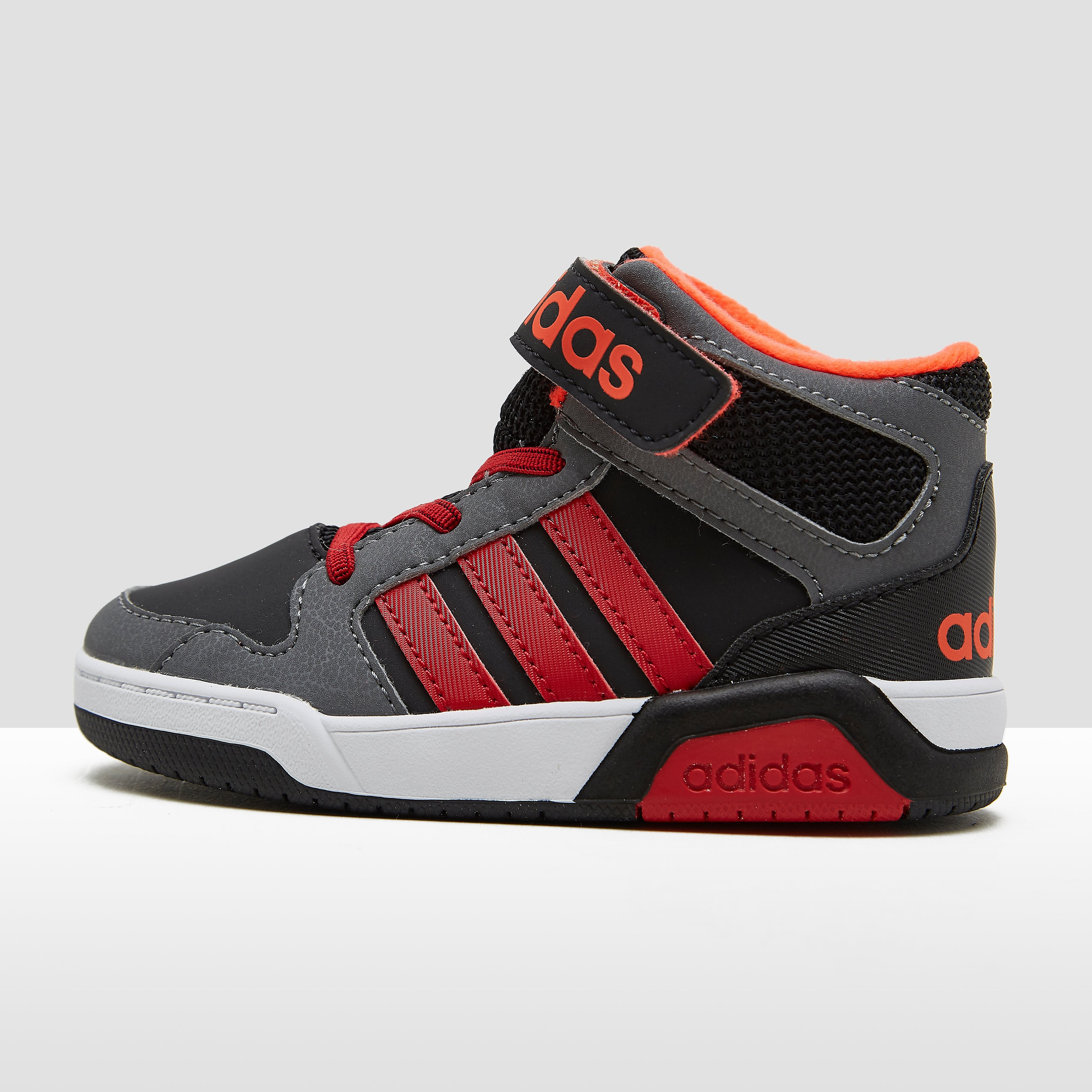 ADIDAS BB9TIS MID SNEAKERS ZWART/ROOD BABY