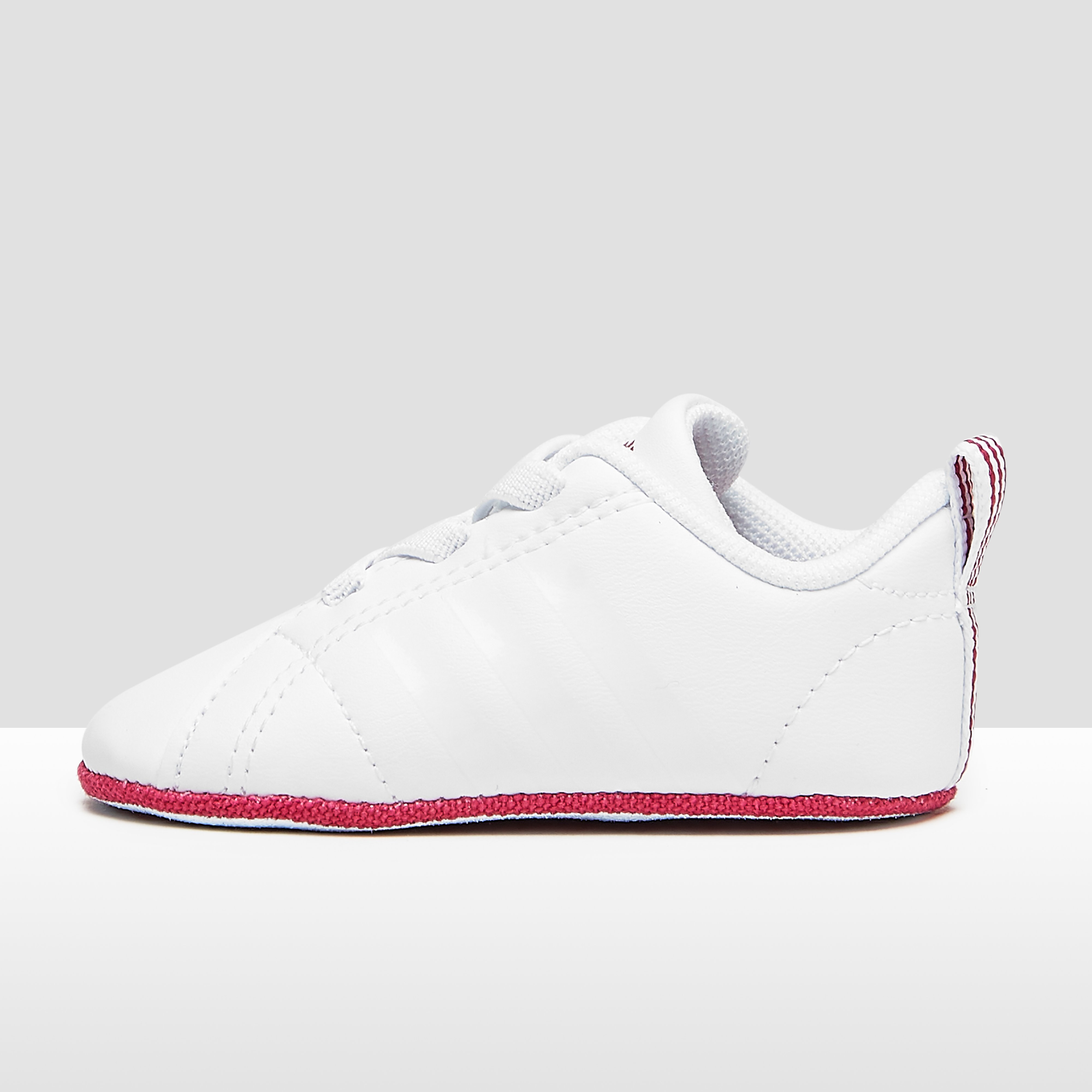 ADIDAS VS ADVANTAGE CRIB SNEAKERS WIT/ROZE BABY