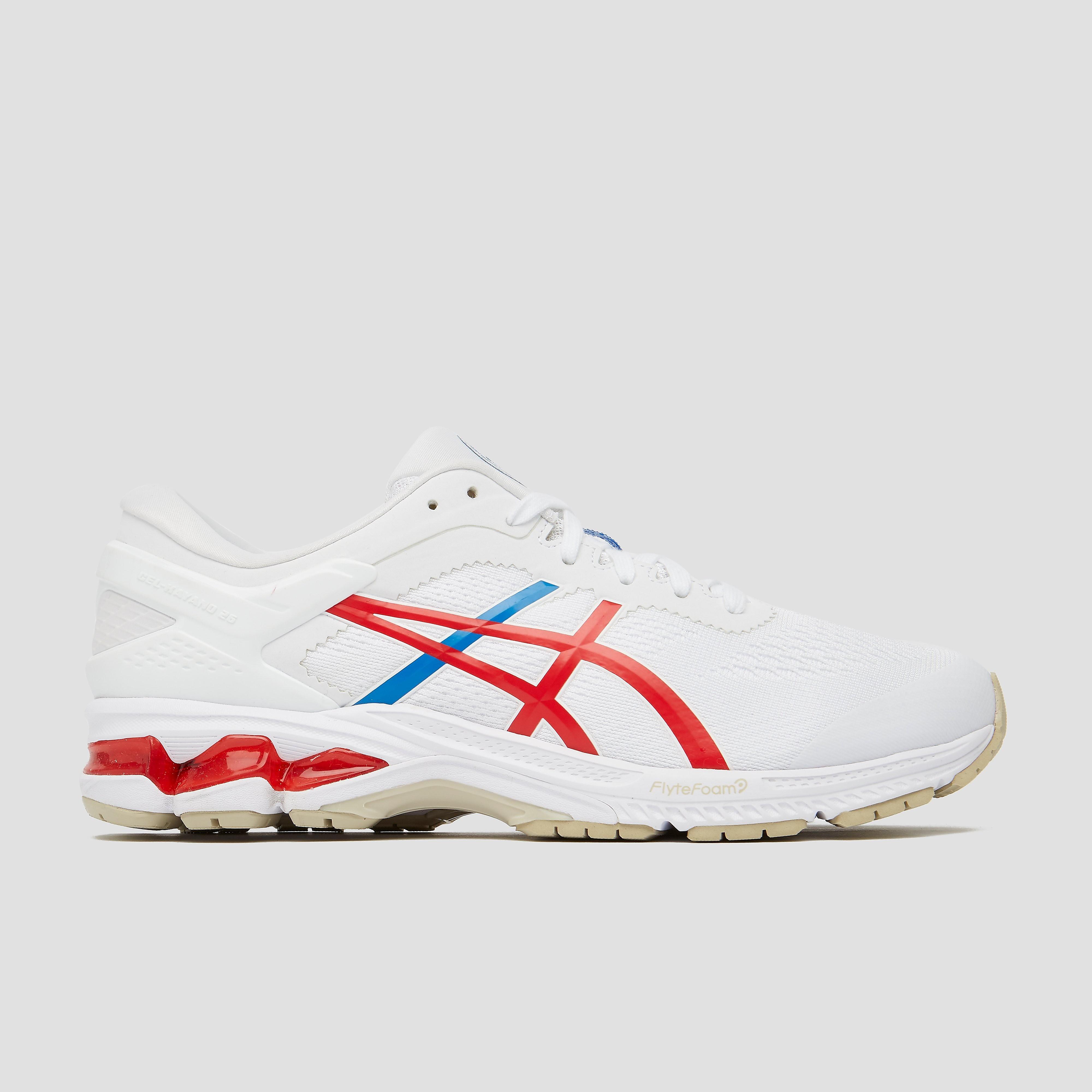 ASICS Gel-kayano 26 retro tokyo hardloopschoenen wit/rood heren Heren
