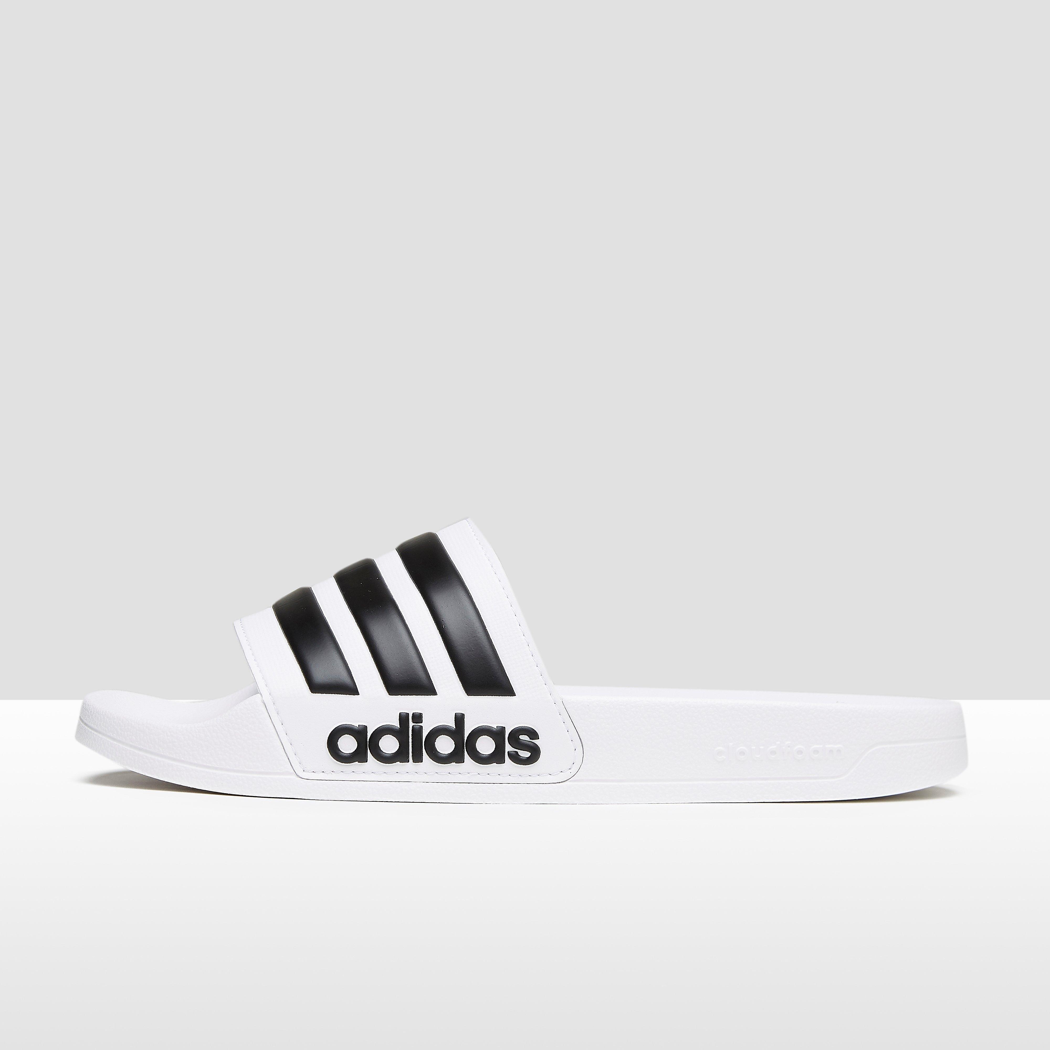 adidas adilette cloudfoam mono slippers zwart heren