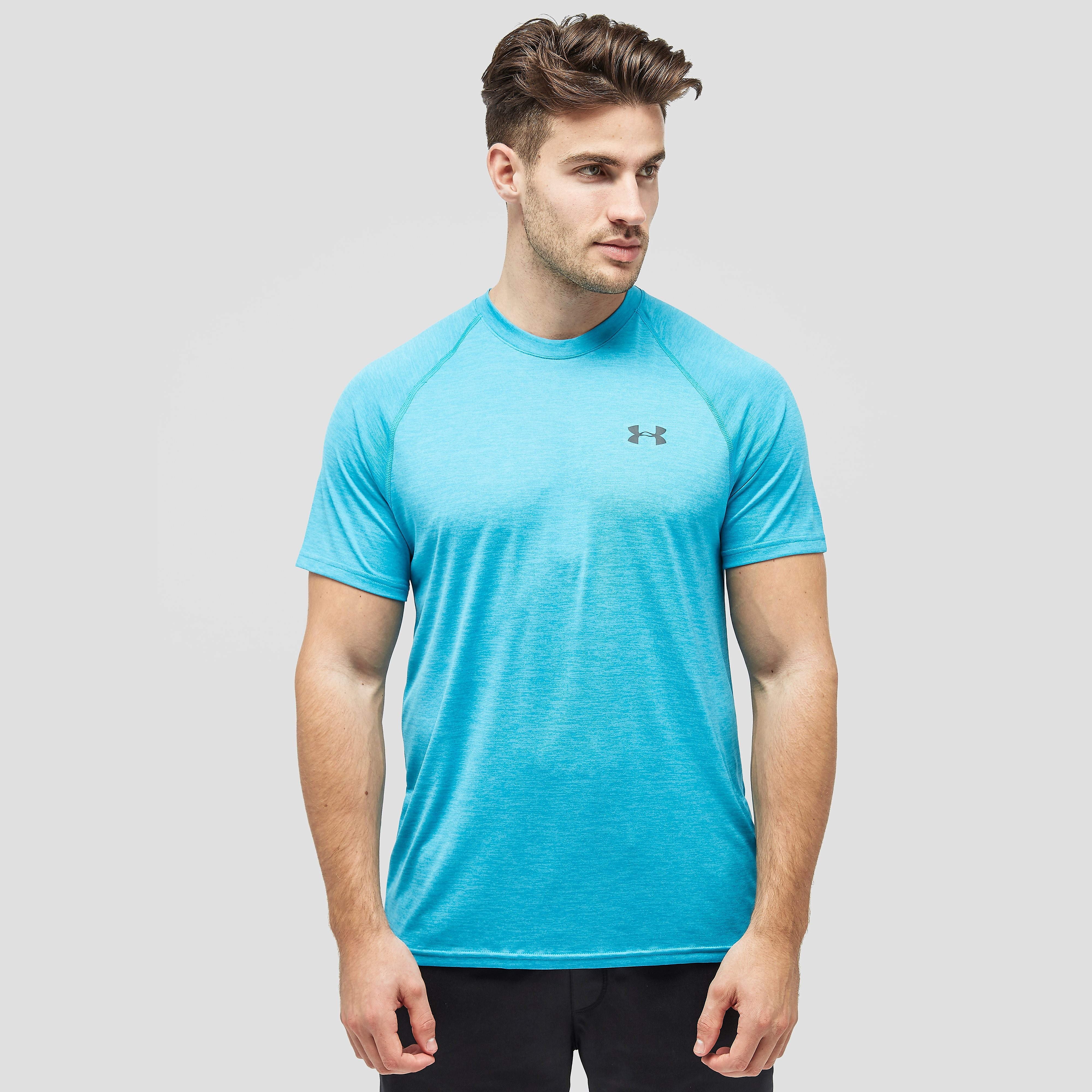 UNDER ARMOUR TECH SPORTSHIRT BLAUW HEREN