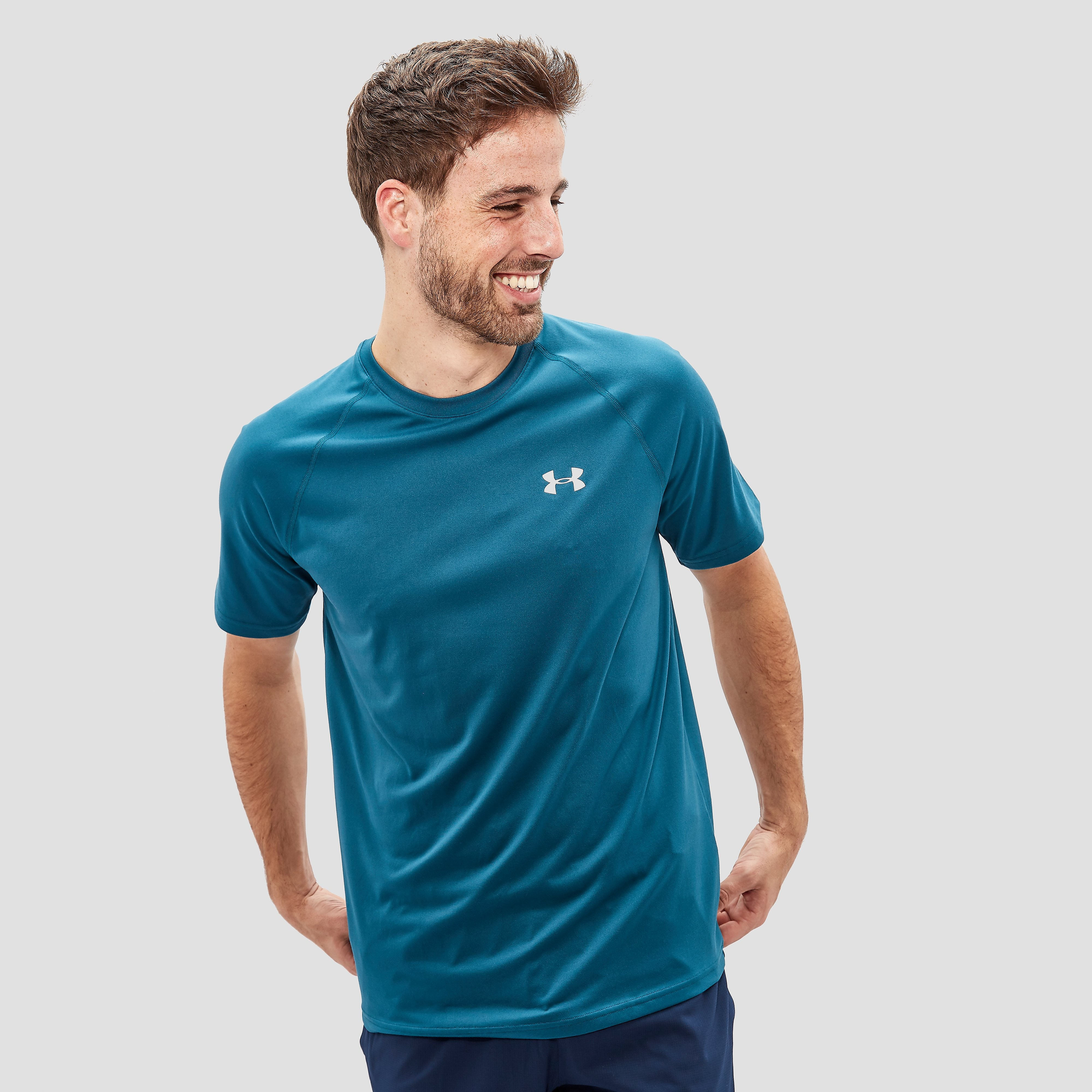 UNDER ARMOUR UA TECH SPORTSHIRT GROEN HEREN