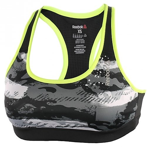 REEBOK RUNNING ESSENTIALS GRAPHIC SPORTBEHA GRIJS DAMES