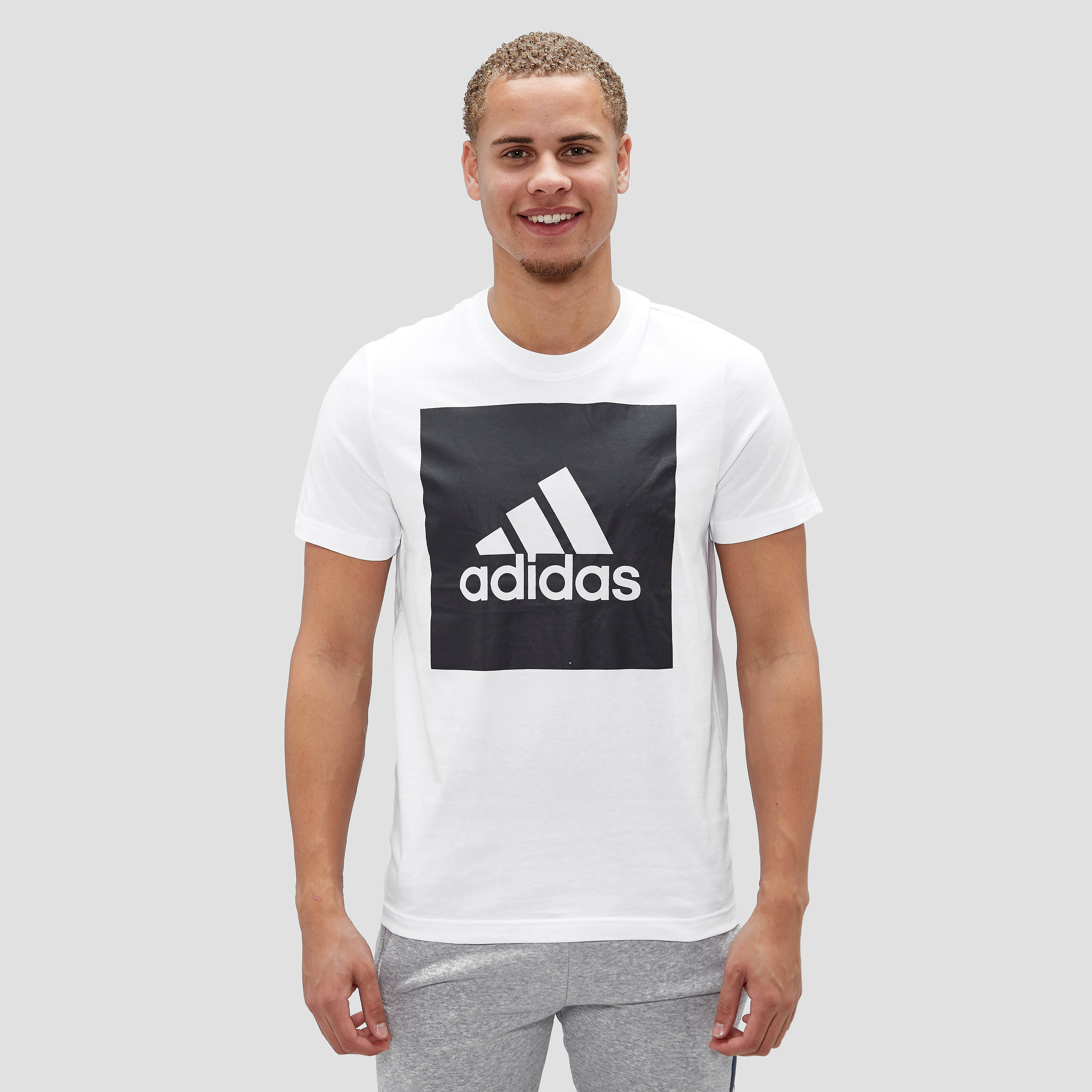 ADIDAS ESSENTIALS BIG LOGO SHIRT WIT/ZWART HEREN